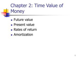 Chapter 2: Time Value of Money