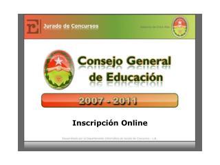 Inscripci n Online