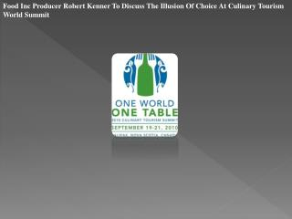 Food Inc Producer Robert Kenner To Discuss The Illusion Of C