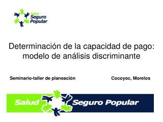 Determinaci n de la capacidad de pago: modelo de an lisis discriminante