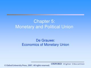 Chapter 5: Monetary and Political Union