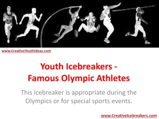 Youth Icebreakers - Famous Olympic Athletes
