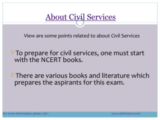 some points  About Civil Services