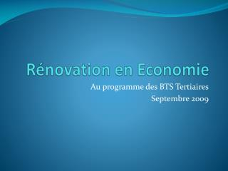 R novation en Economie