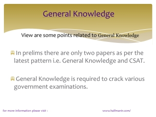 Content For general knowledge