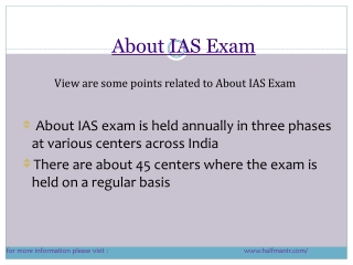 Content about ias exam