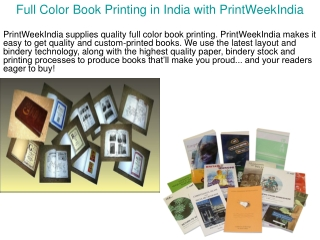 Full Color Book Printing in India with PrintWeekIndia