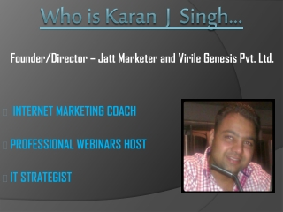 Who is Karan J Singh?