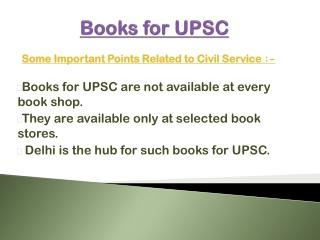 Books for UPSC