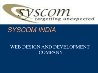 Web Design,Development and Promotion Company