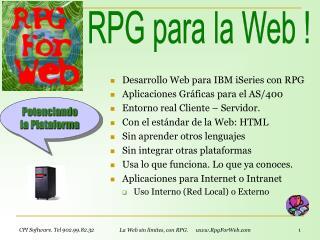 Desarrollo Web para IBM iSeries con RPG Aplicaciones Gr ficas para el AS