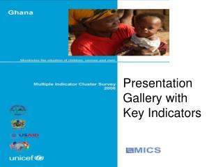 Presentation Gallery with Key Indicators
