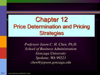 Chapter 12 Price Determination and Pricing Strategies