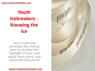 Youth Icebreakers - Knowing the Ice