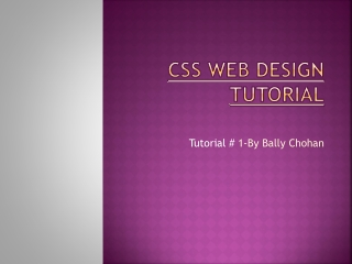 css tutorial - By Bally Chohan