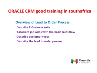 ORACLE CRM good online training in southafrica