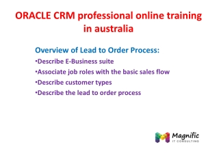 ORACLE CRM practical online training in australia