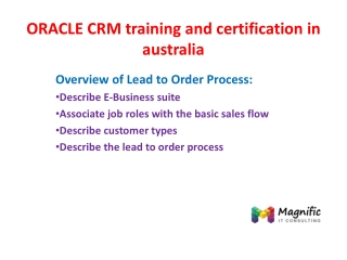 oracle crm training and certification in australia