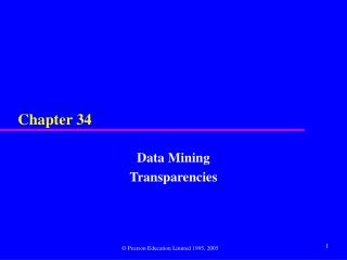 Data Mining Transparencies