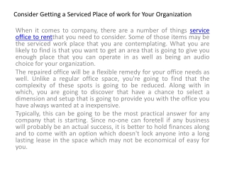 Service Office Rent In Singapore