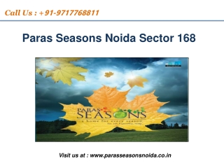 Paras Season Noida | For booking discount call 97177 68811