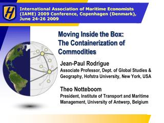 Moving Inside the Box: The Containerization of Commodities