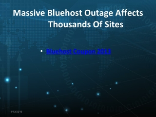 Bluehost September 2013 Coupon