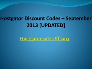 Hostgator 50% Off Discount