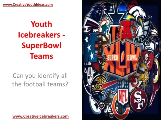 Youth Icebreakers - SuperBowl Teams