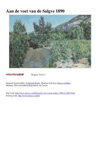 Aan de voet van de Salgve 1890 - Artisoo.com