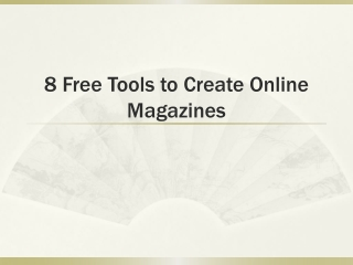 Free Tools to Make Online Magazines