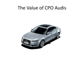 The Value of Certified Pre-Owned Audis