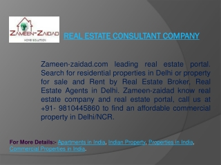 Real estate consultant company