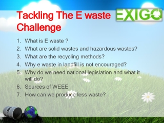 Tackling The E waste Challenge