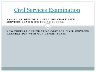 civil services examinations