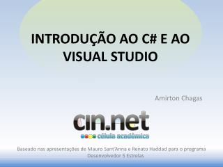 Introdu  o ao C e ao visual studio