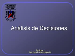 An lisis de Decisiones