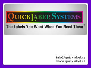 Quicklabel System - Candy Labels and Chocolate Labels