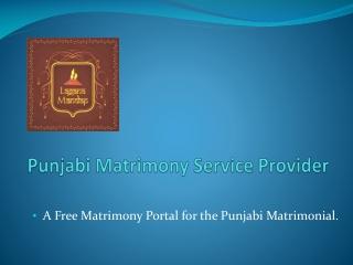 Punjabi Matrimony | Punjabi Matrimonial Service - PowerPoint