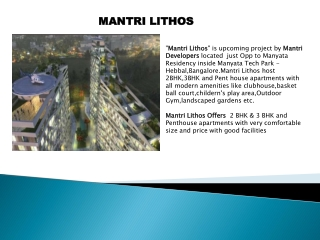 Mantri Lithos