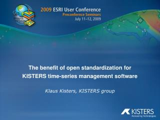 The benefit of open standardization for KISTERS time-series management software