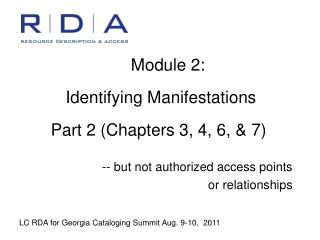 Module 2:    Identifying Manifestations   Part 2 Chapters 3, 4, 6,  7