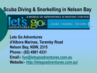 Scuba Diving in Nelson Bay Australia