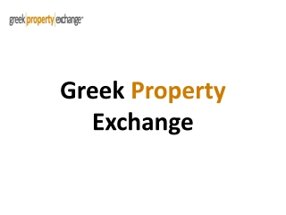 Villa rentals greek property exchange
