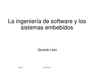 La ingenier a de software y los sistemas embebidos
