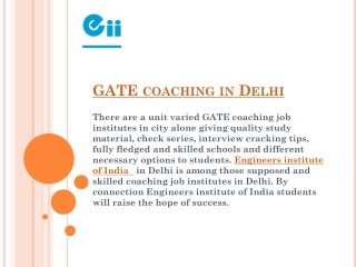 GATE coaching in Delhi