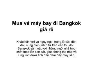 Mua vé máy bay đi bangkok giá rẻ