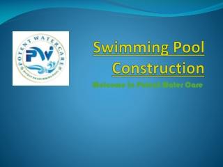 swimming pool construction, swimming pool
