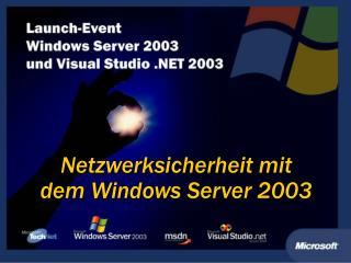Netzwerksicherheit mit dem Windows Server 2003