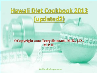 Hawaii Diet Cookbook 2013 (updated2) 31